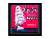 Small Journal - Clipper Ship Apples- Fruit Crate Art Print Cover