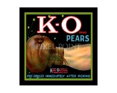 Small Journal - K-O Brand Pears - Fruit Crate Art Print Cover