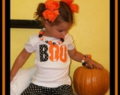 Halloween BOO Shirt for Baby Girl or Big Sister ... 0/3M - size 10/12 ... My First BOO Halloween Bodysuit or Shirt
