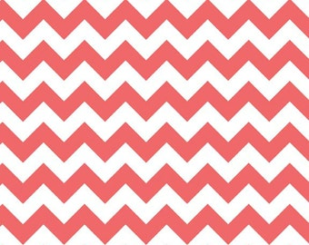 Riley Blake Fabric - Half Yard of Small Chevron in Rouge