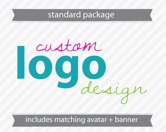 Custom Standard Logo Design - includes Avatar and Banner
