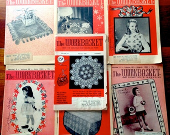 1950s/1960s  The Workbasket Set of 7 booklets, Ideas for Bazaars and Home