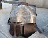 Joralemon rucksack, handmade leather bag, leather weekender, oversized rucksack/backpack, 6 pocket backpack-travel bag by Aixa Sobin, maker