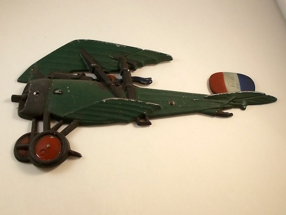 Vintage Plane Wall Decor : Vintage metal airplane aeroplane wall decor green by