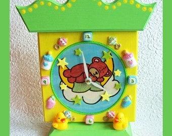 Handmade Childrens Nursery Clock