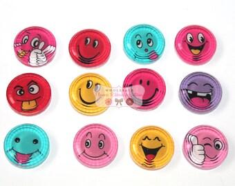 Emoji Embellishments - IT Techs - Facebook Love - Badge Reels - Wholesale Headband Supplies -Set of 12