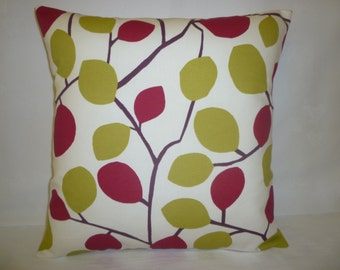 """Red Green Pillow Color Designer Cushion Cover Throw Scatter Pillow. ONE x 16"""" (40cm) 4 other matching patterns"""