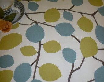 "Table Runner Retro Blue Green Funky Modern Coffee/ Console Table/ Dresser Cotton (54"" 137cm)"
