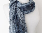 Denim Blue Cotton Scarf-Ready For Shipping
