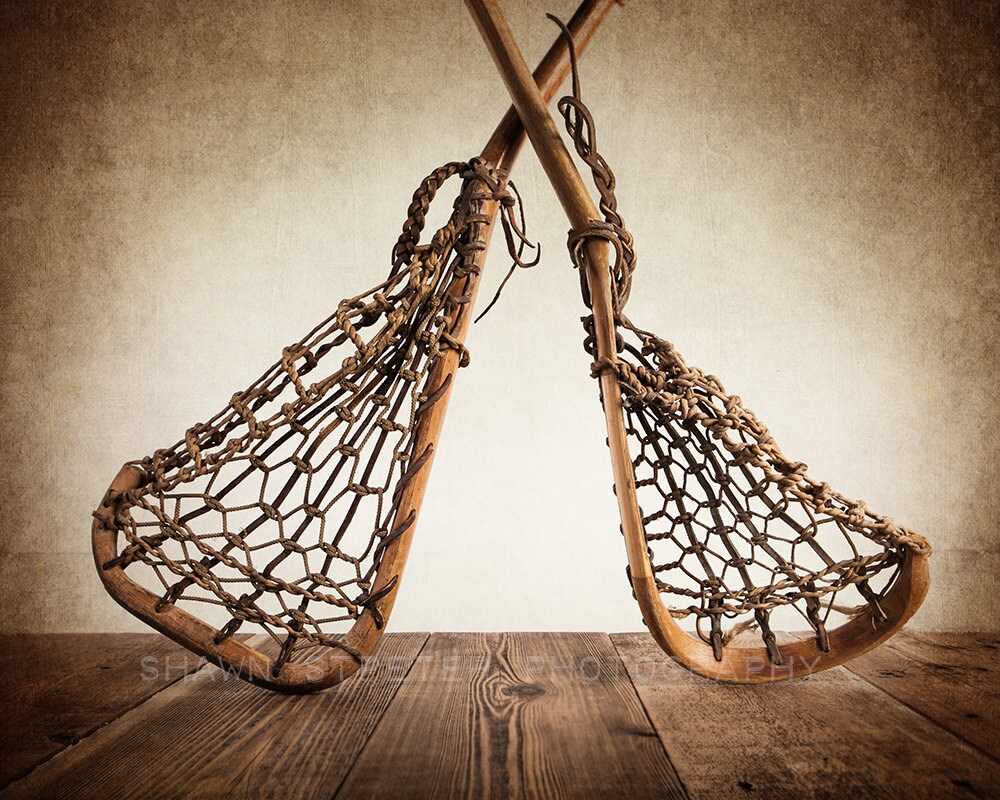Christmas In July Vintage Lacrosse Sticks Upside By