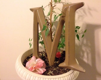 Large Letter, Shabby Chic Letter, PiCK YoUR CoLOR - A-Z