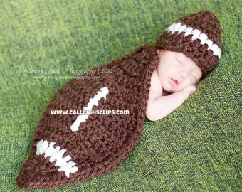 Instant Download Crochet Pattern - No 36 Football - Newborn Photography Prop