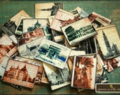 Vintage Art Stickers: 50 Vintage European Travel Stickers, Vintage postcard stickers, vintage envelope seals, vintage European stickers