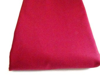 Michael Miller Cotton Couture Broadcloth Fabric, Brick Red Silky Fabric