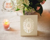 Oval Cameo Wedding Table Number Luminaries (As Seen On Style Me Pretty) / Wedding Table Markers / Table Tents / Table Signs / Wedding Sign