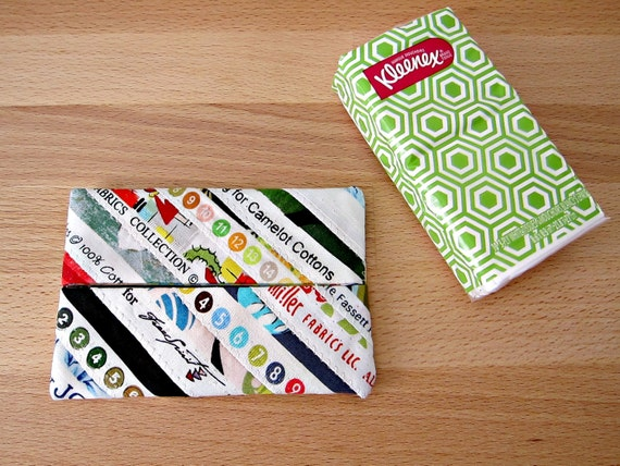 Selvage Tissue Case Upcycled