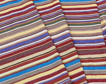Guatemalan Fabric - rust, yellow, and blue
