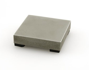 Steel Bench Block with Rubber Feet - Small Size- for Stamping Metal and More