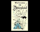 Disney Poster Cross Stitch, Tinkerbell, Disneyland Poster, Cross Stitch, Disney, Needlepoint, Disney Poster by NewYorkNeedleworks on Etsy