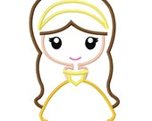 Digitizing Dolls Princess Belle Applique Machine Embroidery Design 4x4 5x7 6x10 Beauty and the Beast INSTANT DOWNLOAD