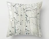 SALE Pillow Case - Birchwood Trees - Nature Landscape Home Decor - White and Black - Pillow Cover  - Fine Art Pillow - 16x16, 18x18, 20x20