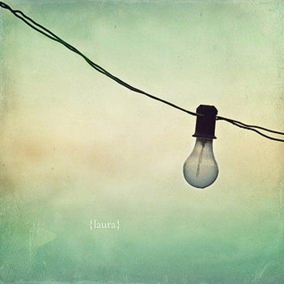 "Surreal Photography - Light Bulb Photograph - Home Decor -Fine Art Photograph 5x5 - ""Dreams & Ideas"""