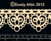 Dusty Attic Chipboard - Lace Border 2 DA0844