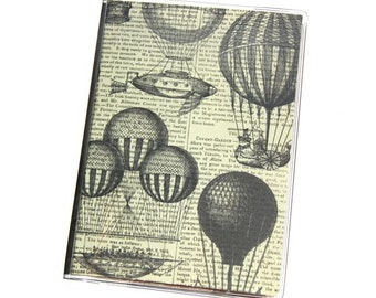 PASSPORT COVER - Steampunk Flying Machines