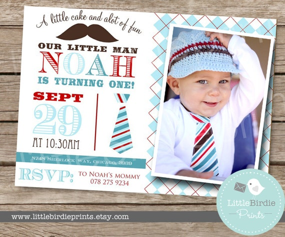 LITTLE MAN Invitation  Little man birthday invitation little man first birthday invitation mustache invitation
