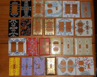 Hand Painted Light Switch Plates: One of a Kind Light Switch Covers,Lighting