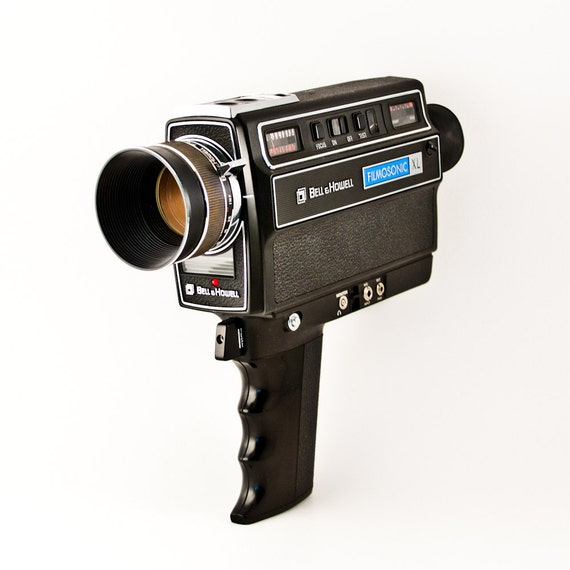 vintage movie camera super 8 in original box bell howell. Black Bedroom Furniture Sets. Home Design Ideas