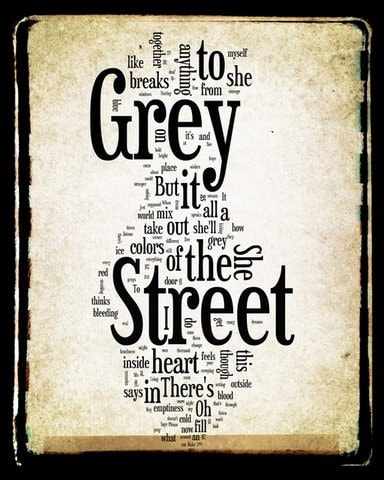 Grey Street Word Cloud
