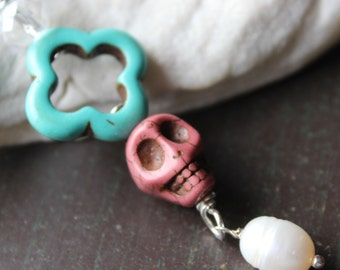 Day of the Dead Sugar Skull Charm