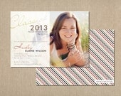 graduation announcement . frosted overlay