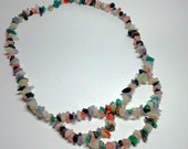 Multi Color Quartz Bib Necklace