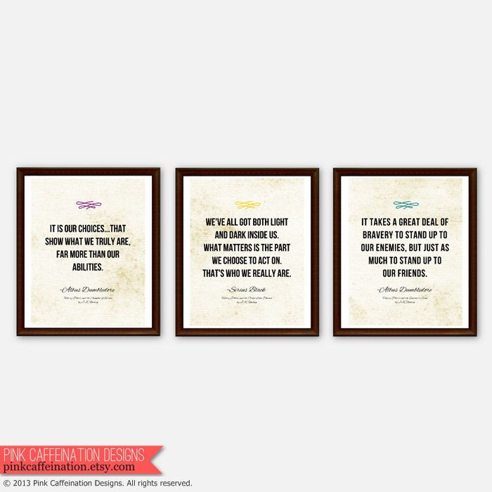 Harry Potter Inspirational Quotes: Items Similar To Harry Potter Inspirational Quote Prints
