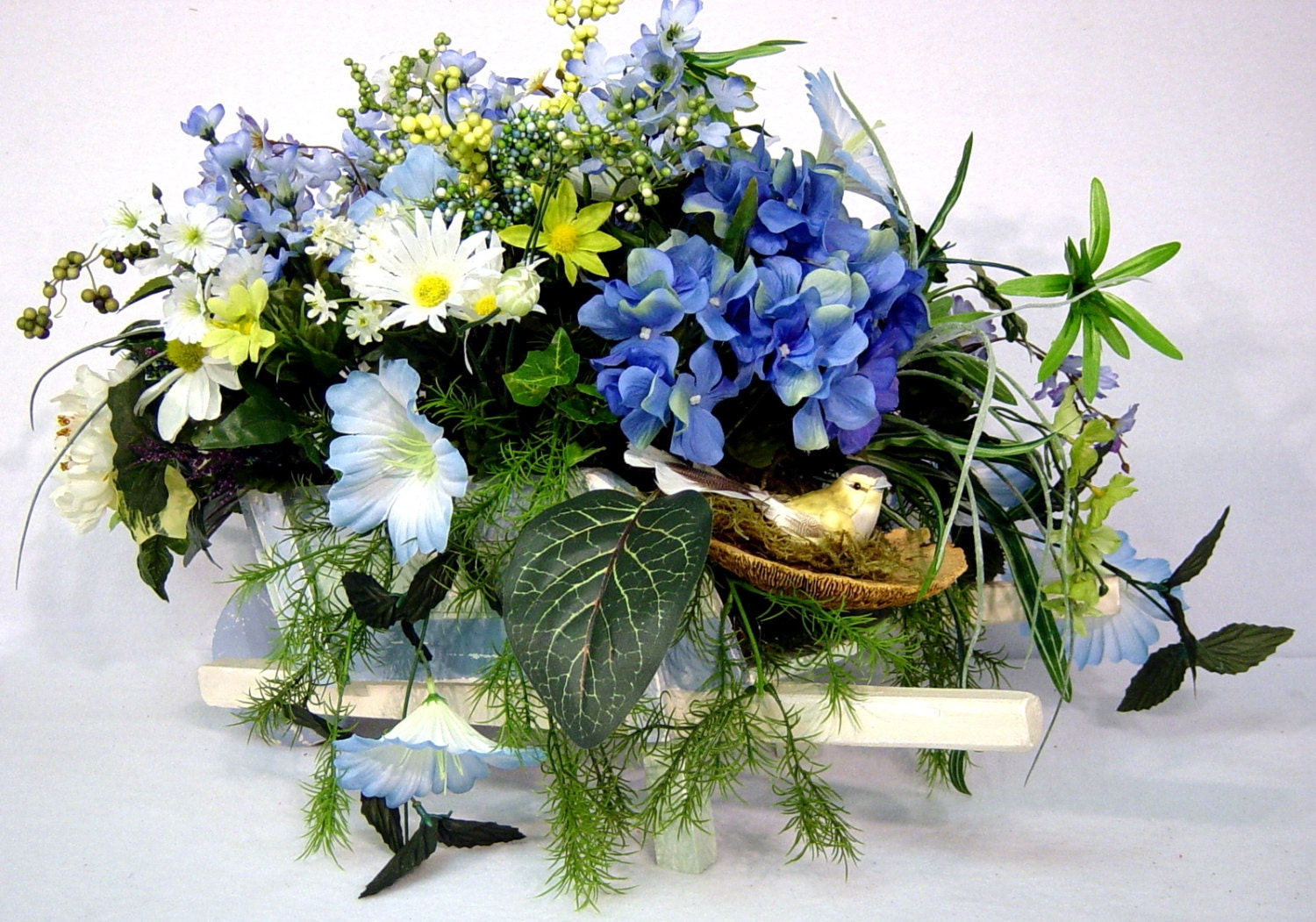 Silk floral arrangement centerpiece spring by