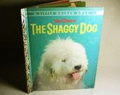 Vintage Walt Disney's The Shaggy Dog A Little Golden Book 1959 Hardcover