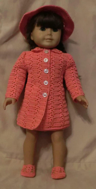 Crochet Dress Up Doll Pattern : 187 Princess Coat Set Crochet Pattern for American Girl