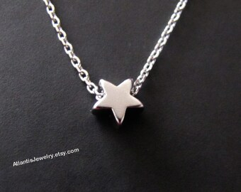 Tiny Star Necklace Pendant Necklace Charm Necklace Jewelry Gift