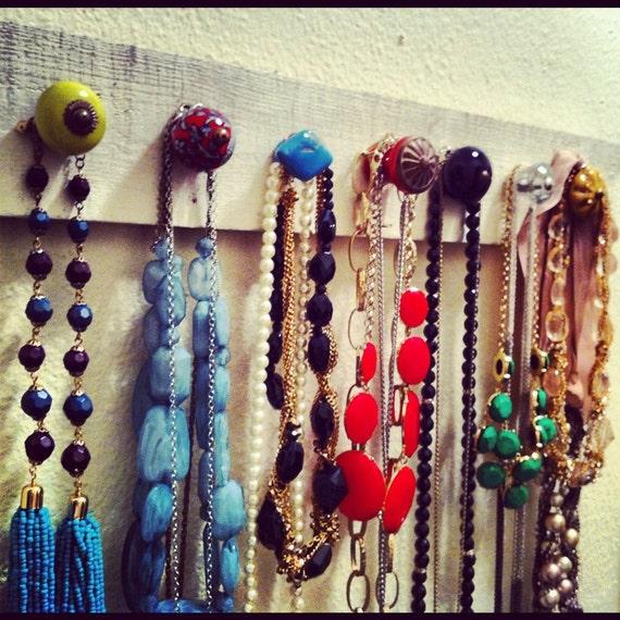 Wood Necklace Hanger
