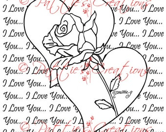 I Love You Hearts and Roses