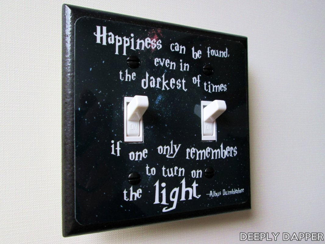 Double Switchplate Quote Light Switch Plate By Deeplydapper