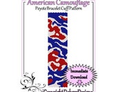 American Camouflage - Beaded Peyote Bracelet Cuff Pattern