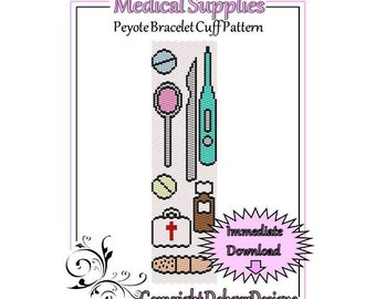 Bead Pattern Peyote(Bracelet Cuff)-Medical Supplies