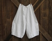 linen pant in white ready to ship