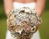 Brooch Bouquet Deposit - Completely Customizable Broach Bouquet In Your Wedding Colors - by The Ritzy Rose