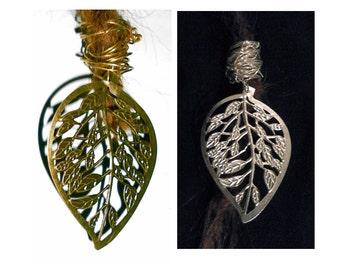 pick color: leaf filigree dread bead