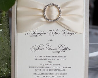 Elegant wedding invitations Etsy