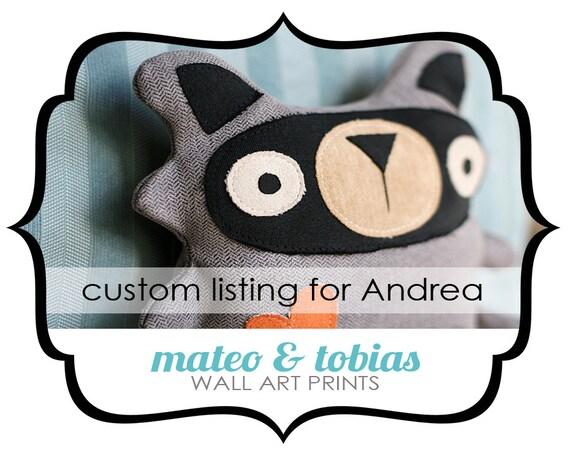 Custom Listing for - Andrea